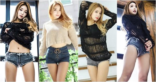 Lee Da Hee sexy in shorts
