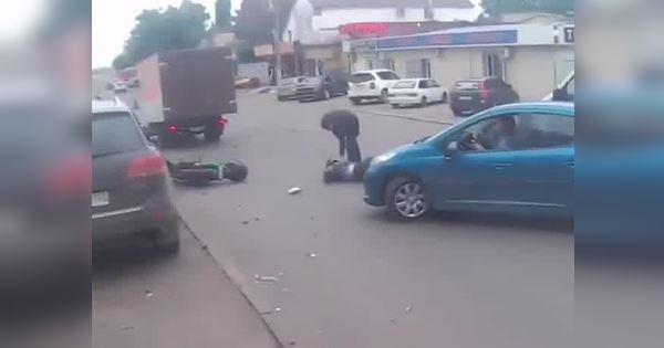 sang đường bất cẩn gây tai nạn