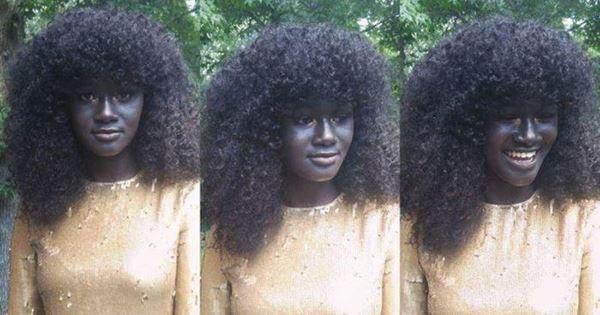 Khoudia Diop người mẫu da đen