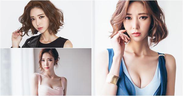 người mẫu Ye Jin khoe ngực cực khủng