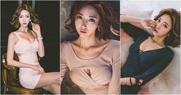 người mẫu Ye Jin khoe ngực khủng
