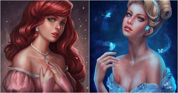 tranh vẽ các công chúa tuyệt đẹp